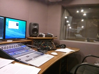 Image: Recording in the Wellcome Collection's audio studio